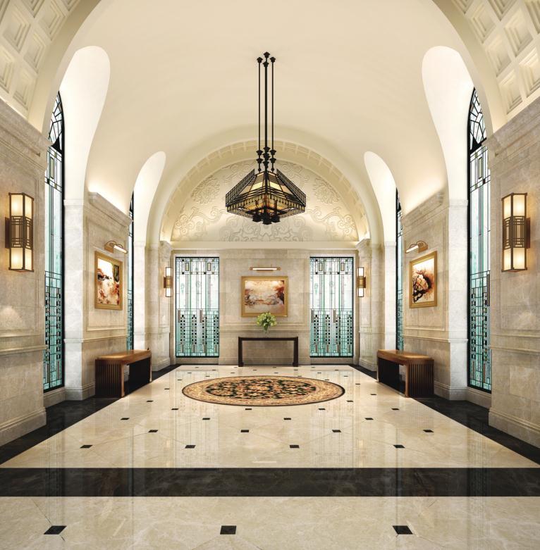 欧式风格豪华大厅大理石瓷砖800x800